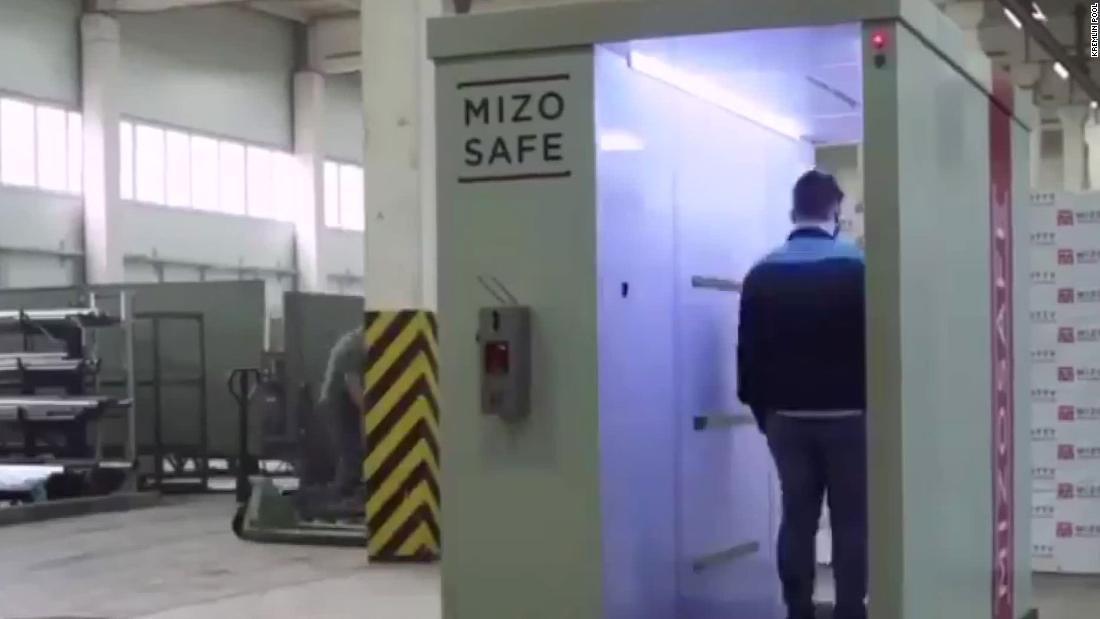 Wladimir Putins Haus verfügt über einen begehbaren Desinfektionstunnel zum Schutz vor Coronaviren