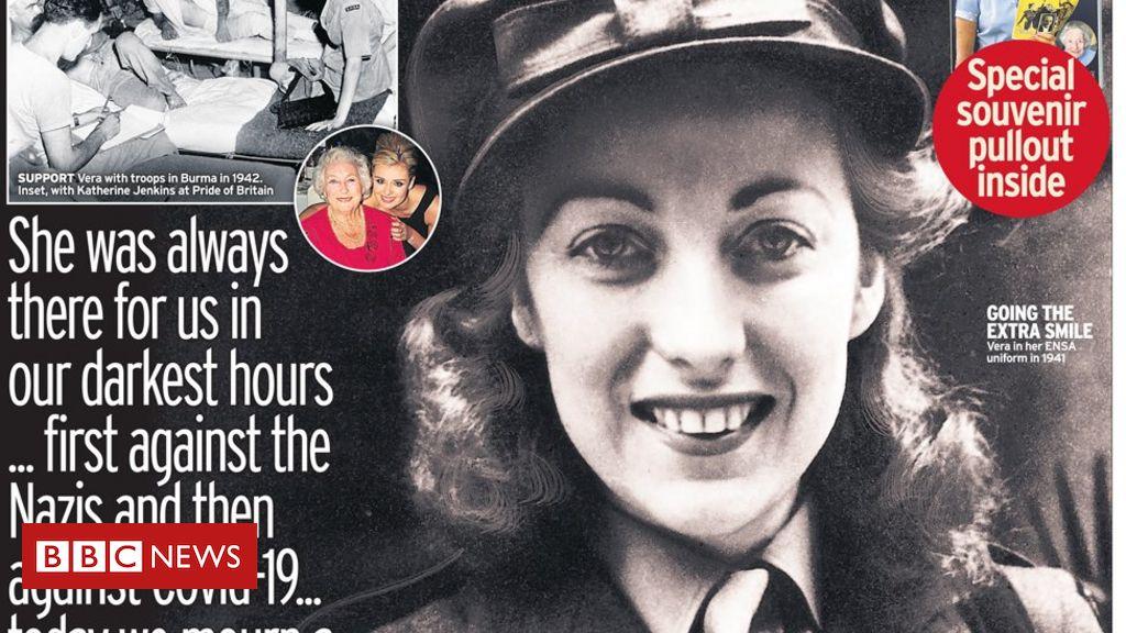 Schlagzeilen in der Zeitung: Hommagen an Dame Vera inmitten der App 'Fiasko'