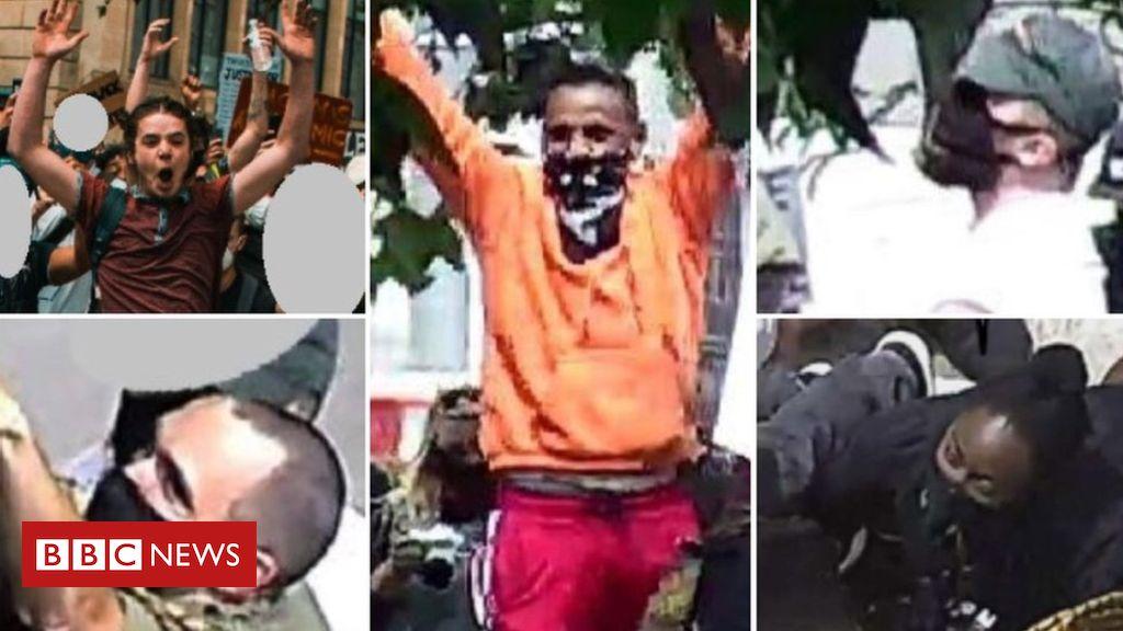 Appell, Edward Colston Statue Demonstranten zu identifizieren