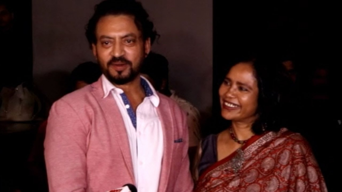 Irrfan Khan with wife Sutapa Sikdar