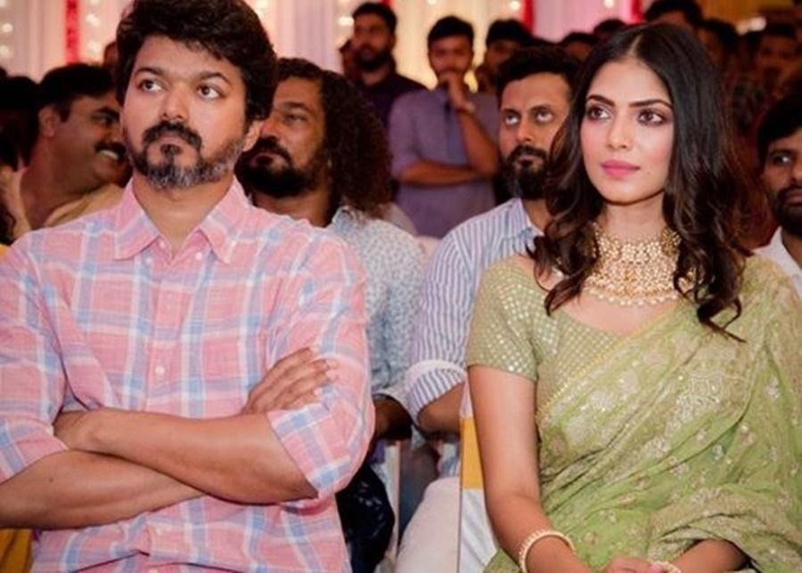 Vijay and Malavika Mohanan in Master