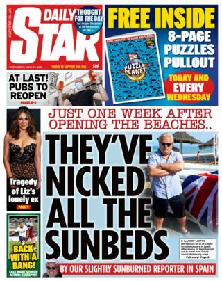 Die Daily Star Titelseite 24.06.20