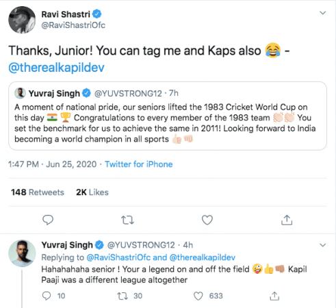 Ravi Shastri Tweet