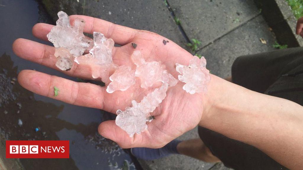 Wetter in Großbritannien: Hagelkörner fallen auf Leeds und Sheffield