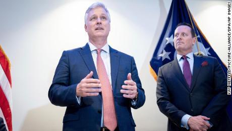 Der nationale Sicherheitsberater Robert O. Brien (links) und Rick Grenell kannten sich seit ihrer Arbeit in der Regierung von George W. Bush.