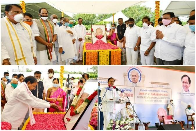 K Chandrashekar Rao würdigt am Sonntag den ehemaligen Premierminister Late PV Narasimha Rao