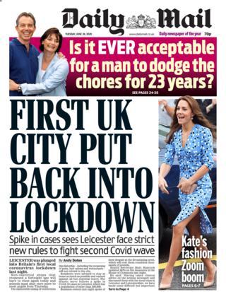 Daily Mail Titelseite 30.06.20