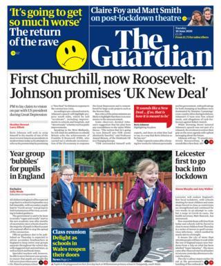 Guardian Titelseite 20.06.20