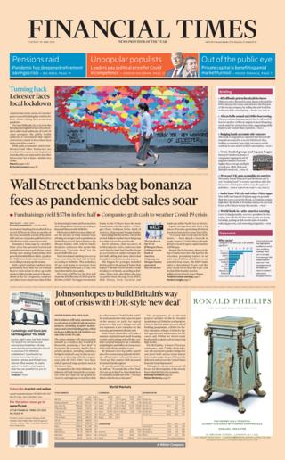 Titelseite der Financial Times 30.06.20