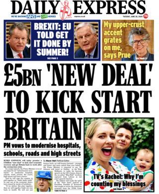 Daily Express Titelseite 30.06.20