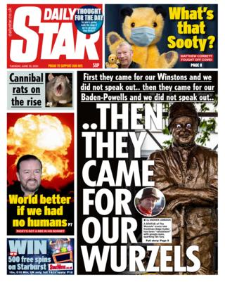 Daily Star Titelseite 30.06.20