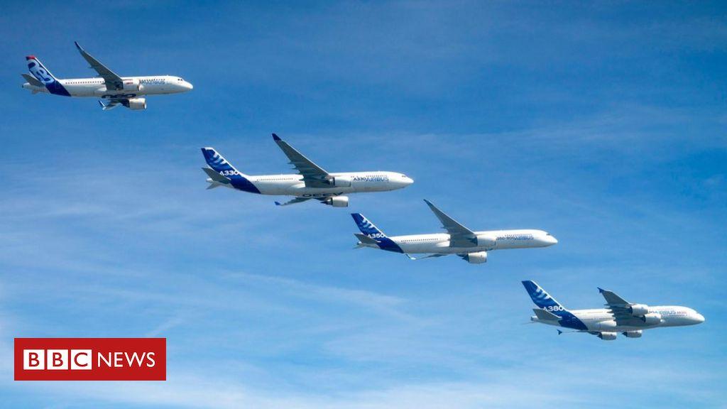Der Flugzeughersteller Airbus streicht 15.000 Stellen aufgrund von Coronavirus-Ausfällen