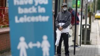 Leicester soziales Distanzierungszeichen