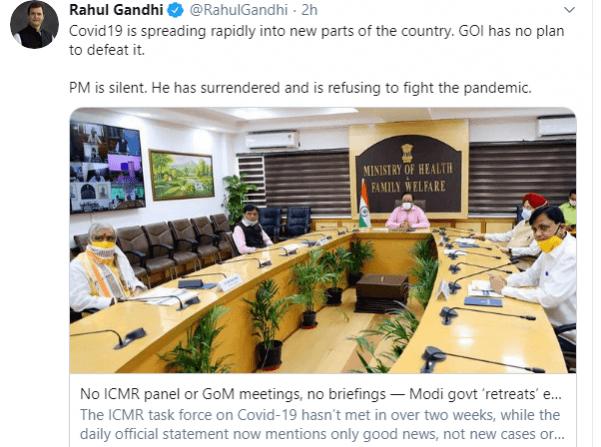 Rahul Gandhi twittert