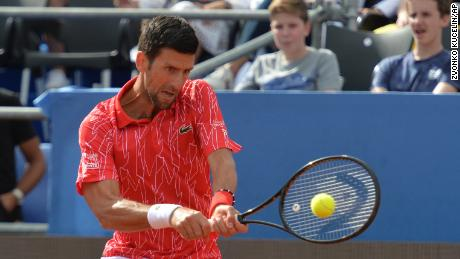 Djokovic kehrt während der Adria Tour in Zadar, Kroatien, zurück.
