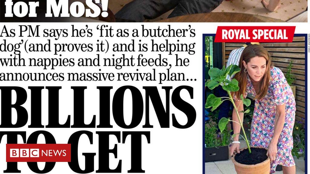 """Schlagzeilen in der Zeitung: PM verspricht, unter Angst vor Arbeitslosigkeit """"Blitz zu bauen"""""""