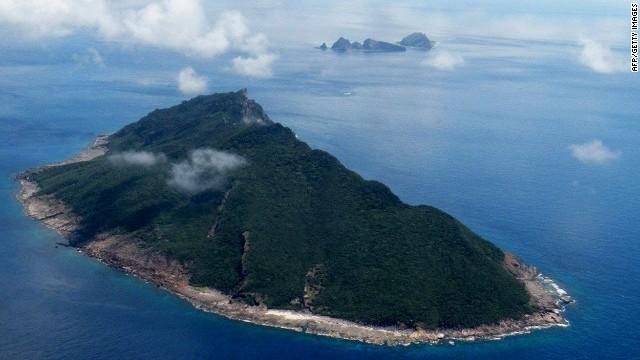 Diese Luftaufnahme vom 15. September 2010 zeigt die umstrittenen Inseln Senkaku in Japan und Diaoyu in China im Ostchinesischen Meer.