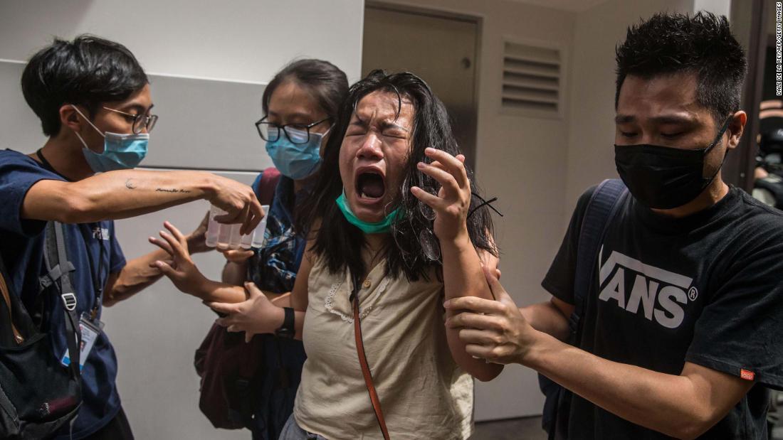 1. Juli Proteste in Hong Kong