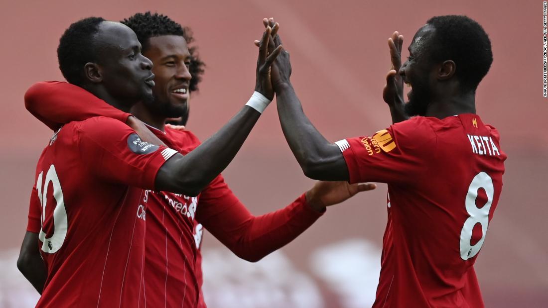 Liverpool bringt die Titelfeier der Premier League mit dem Sieg über Aston Villa wieder in Schwung