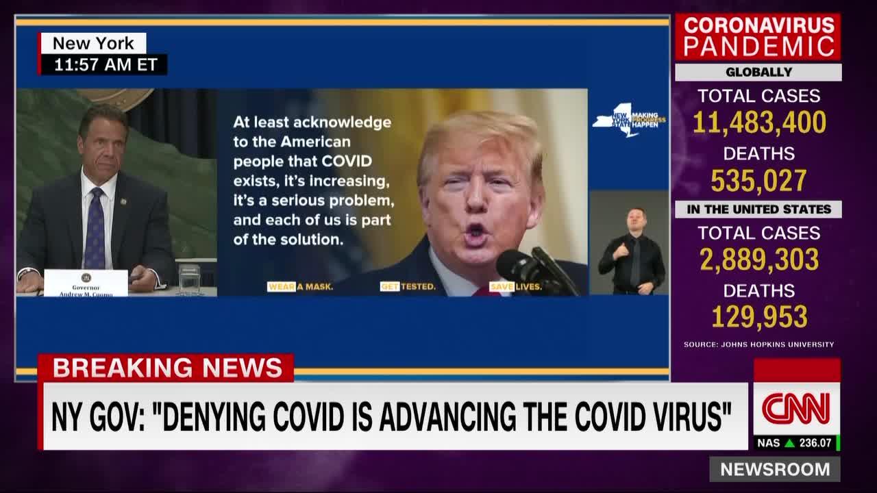 """Präsident Trump """"aktiviert das Virus"""", sagt der Gouverneur von New York"""
