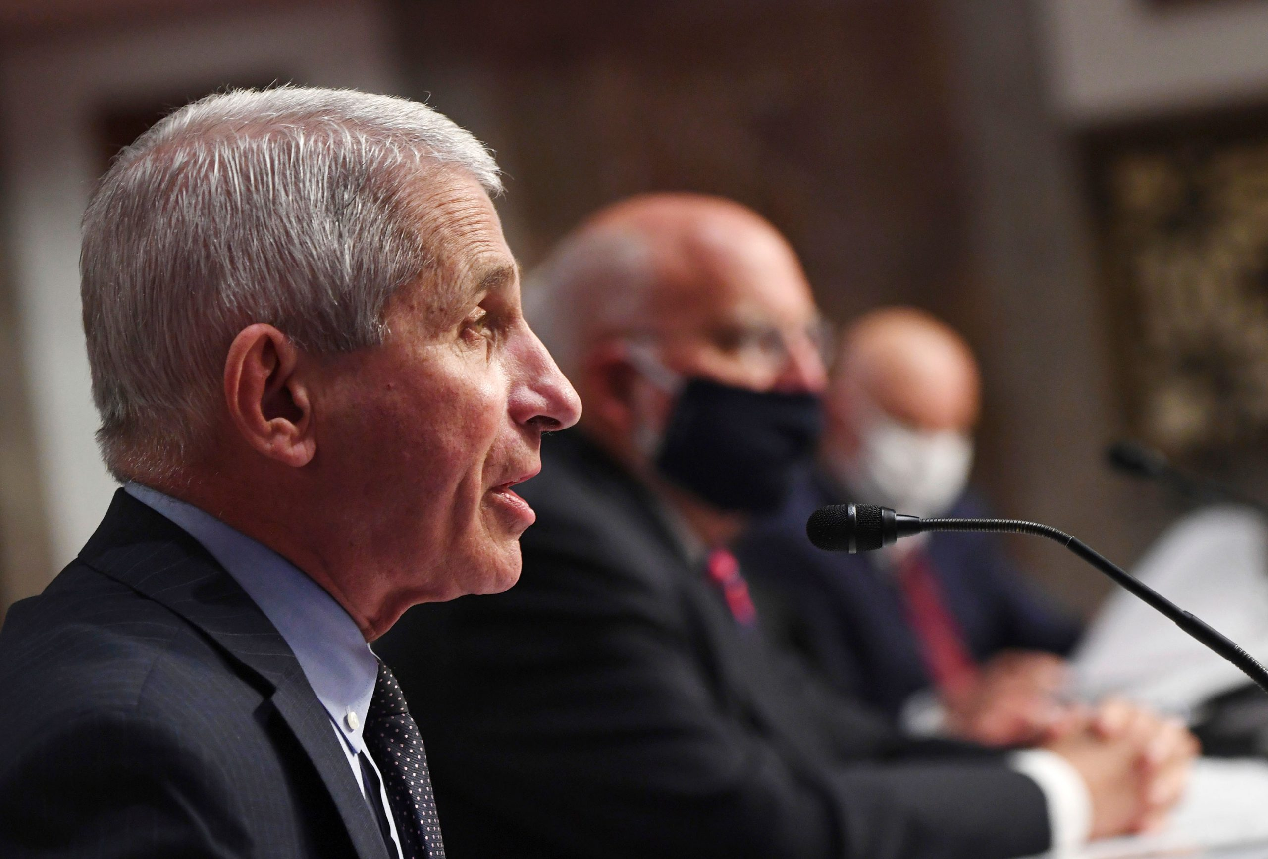 Dr. Anthony Fauci, director of the National Institute for Allergy and Infectious Diseases, testifies before a Senate Health, Education, Labor and Pensions Committee on June 30 in Washington, DC.