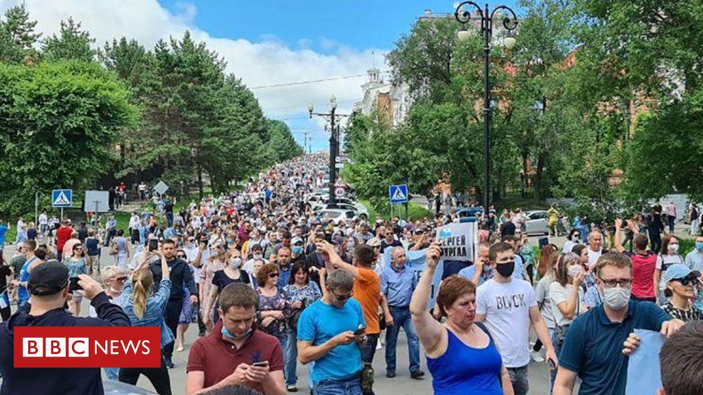 Russland im Fernen Osten protestiert gegen die Verhaftung des Gouverneurs von Chabarowsk