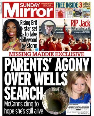 Daily Mirror Titelseite 12/07/20