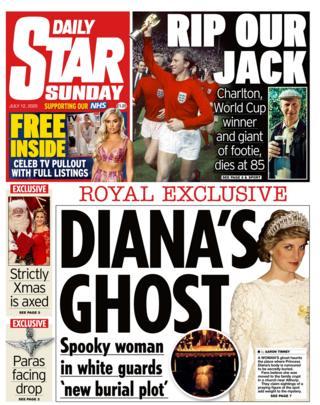 Daily Star Titelseite 12/07/20