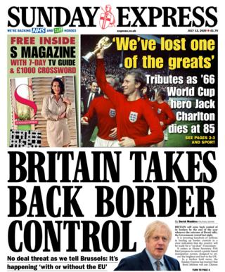 Sunday Express Titelseite 12/07/20