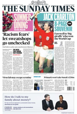 Sunday Times Titelseite 12/07/20