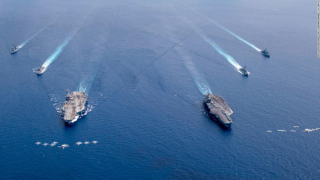 """Die USA erklären """"die meisten"""" maritimen Ansprüche Chinas im Südchinesischen Meer für illegal"""