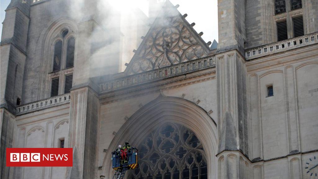Nantes: In der Kathedrale Saint-Pierre-et-Saint-Paul bricht Feuer aus