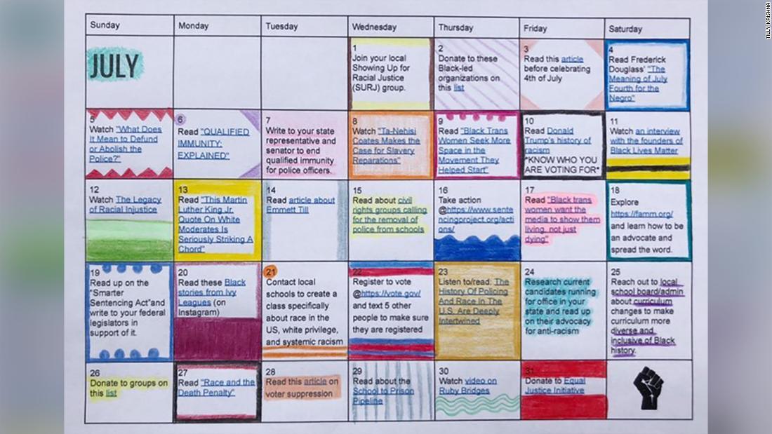 Teenager erstellt Anti-Rassismus-Kalender - CNN