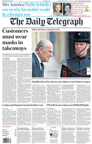 Daily Telegraph 23. Juli 2020