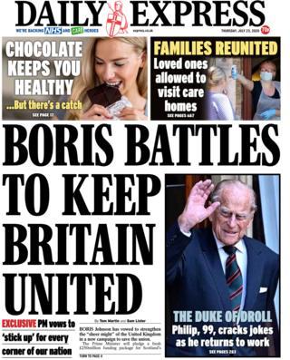 Daily Express 23. Juli 2020