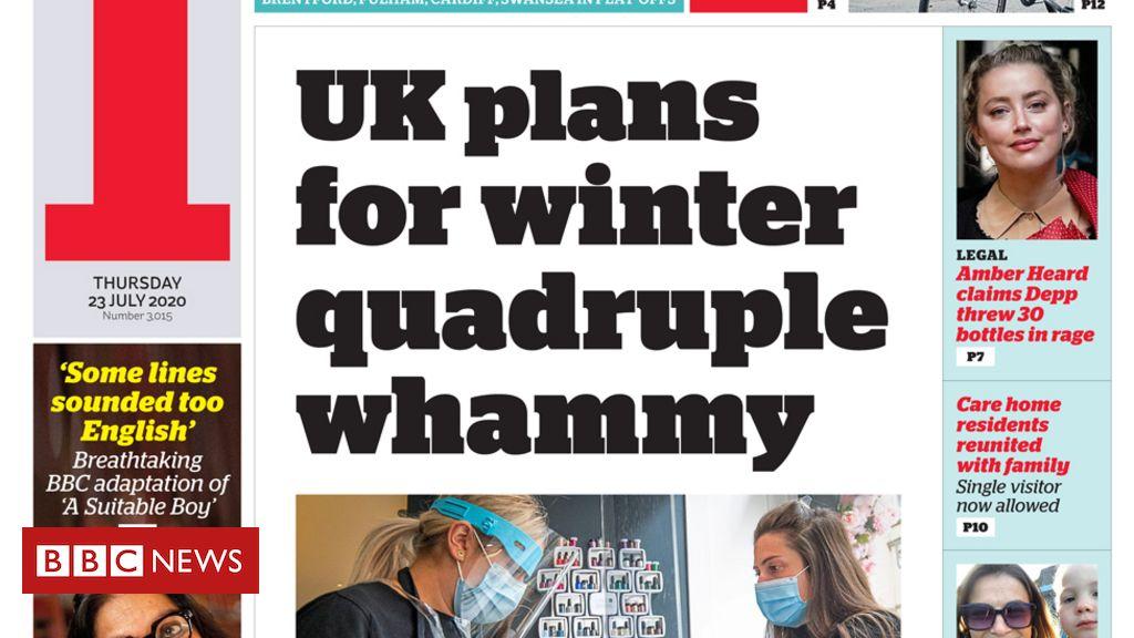 """Schlagzeilen in der Zeitung: """"Winter Quadruple Whammy"""" und """"Wir werden Sie nicht einkaufen"""""""