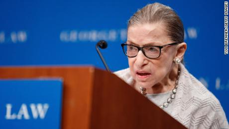 Richterin Ruth Bader Ginsburg dominiert im Abtreibungsfall