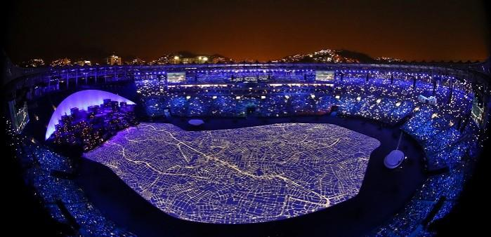 Eröffnungsfeier der Olympischen Spiele in Rio