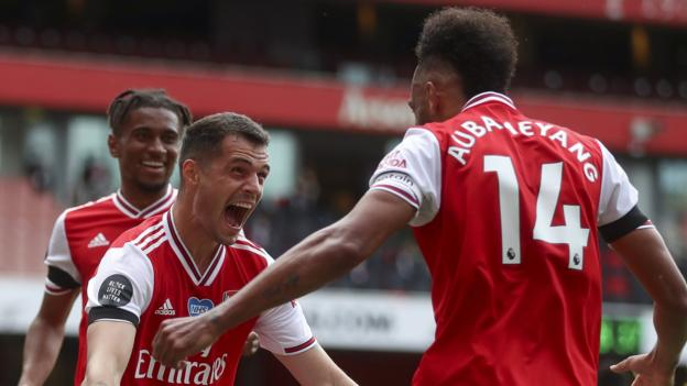 Arsenal 4: 0 Norwich City: Pierre-Emerick Aubameyang erzielt zwei Treffer