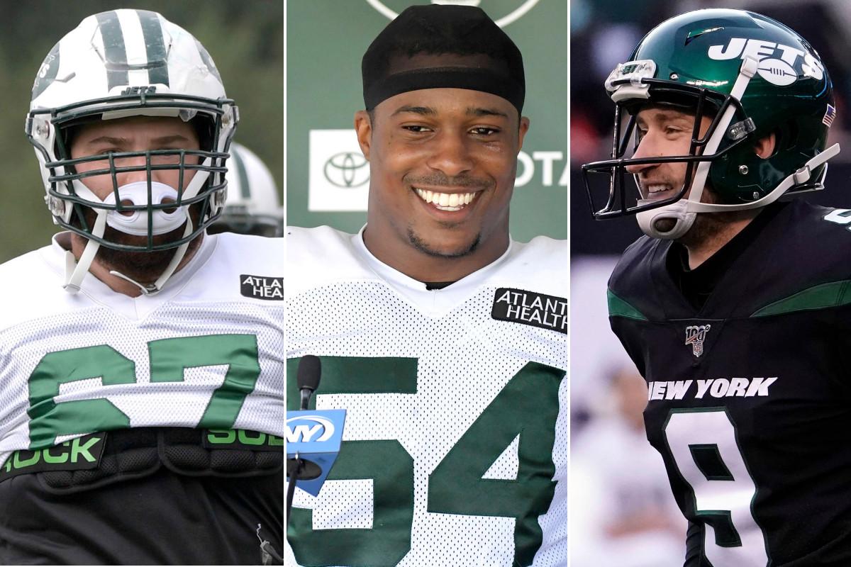 Brian Winters, Avery Williamson und Sam Ficken von Jets kämpfen um Jobs