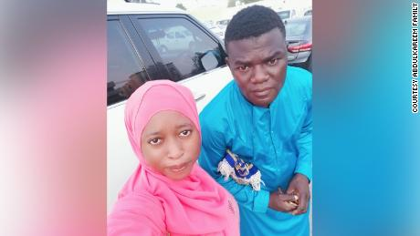 Das nigerianische Ehepaar Suliyat Abdulkareem und Tijani Abdulkareem in Dubai.