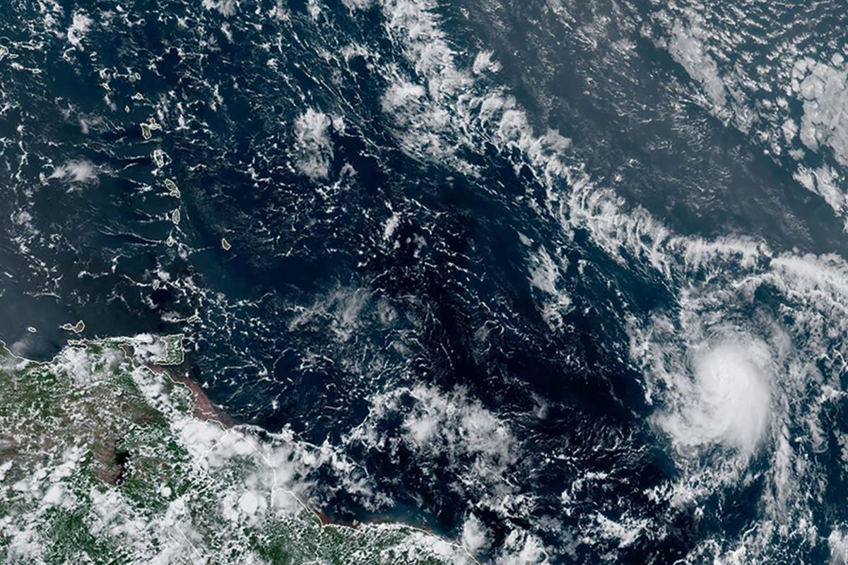 Der tropische Sturm Hanna könnte bis Samstag die Küste von Texas erreichen