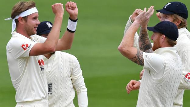 England gegen Westindische Inseln: Ben Stokes & Stuart Broad helfen den Gastgebern, den zweiten Test zu gewinnen