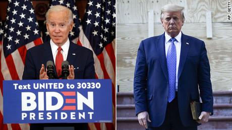 Die Umfragen zeigen, dass Biden 100 Tage nach einer beispiellosen Wahl ein klarer Favorit ist