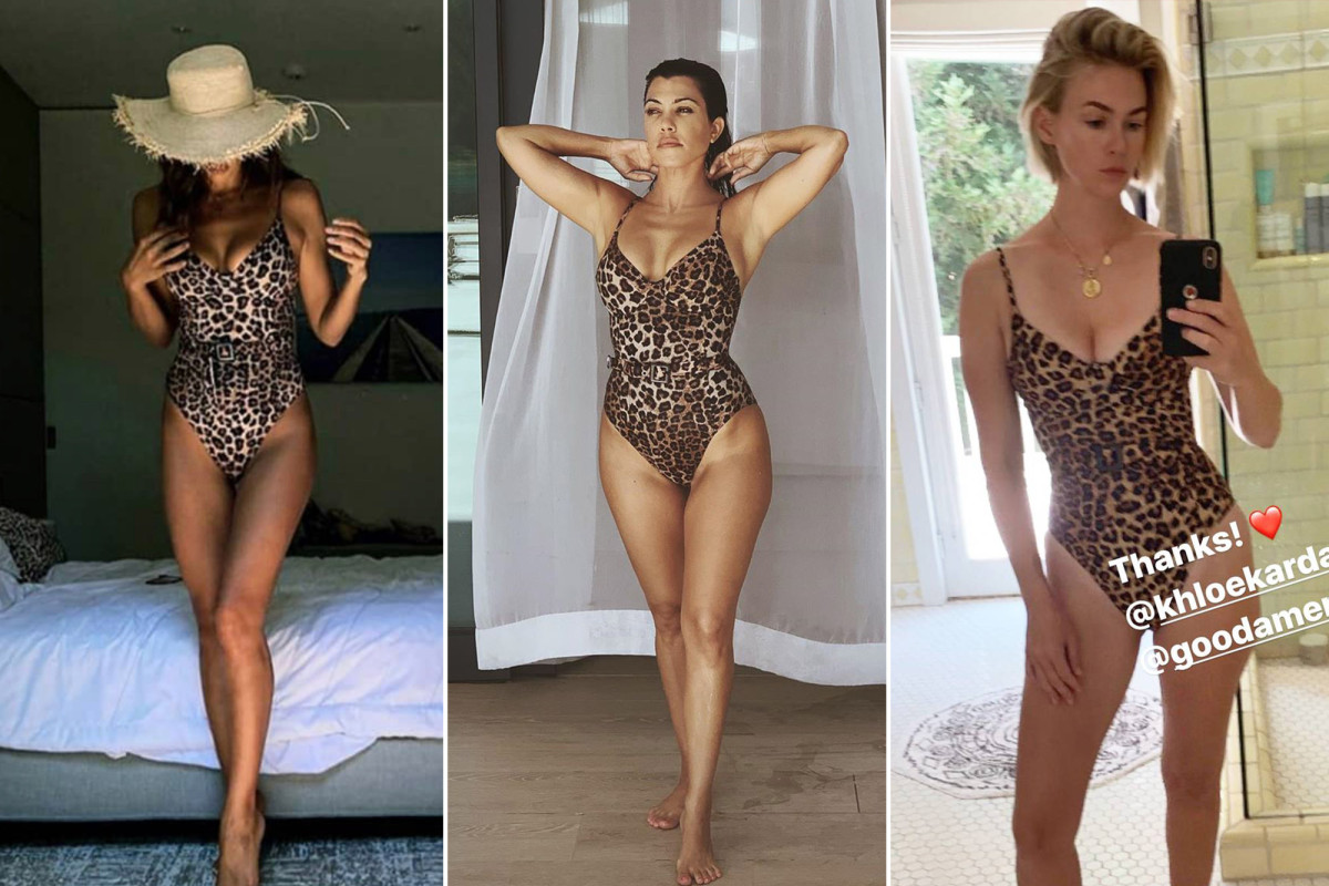 Kourtney Kardashian, January Jones und Irina Shayk lieben diesen Badeanzug mit Leoparden