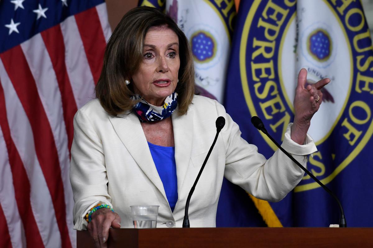 """Pelosi nennt das Coronavirus nach dem Briefing im Weißen Haus das """"Trump-Virus"""""""