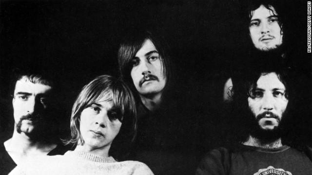 Die Fleetwood Mac-Mitglieder Peter Green, Jeremy Spencer, Mick Fleetwood, Danny Kirwan und John McVie.