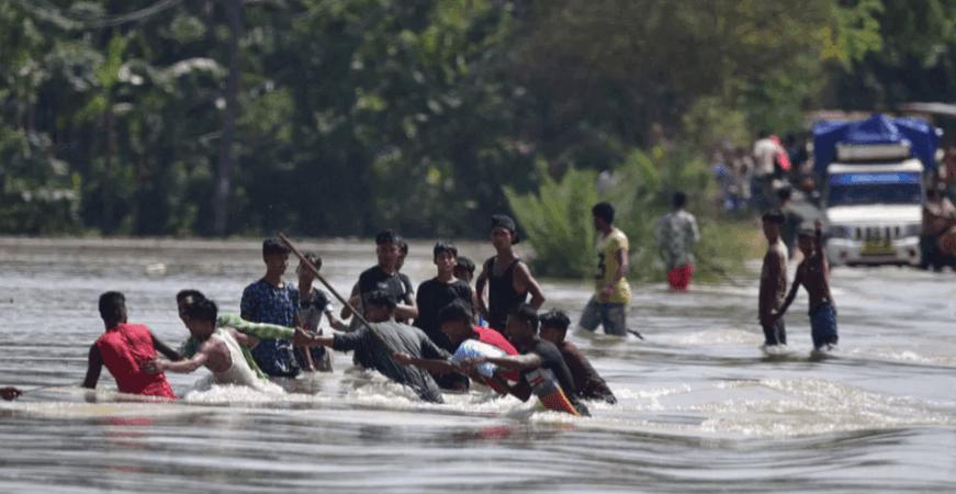 Assam überschwemmt 2020