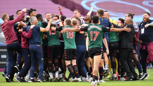 West Ham 0: 0 Aston Villa: Villa überlebt den Abstieg mit einem Unentschieden am letzten Tag