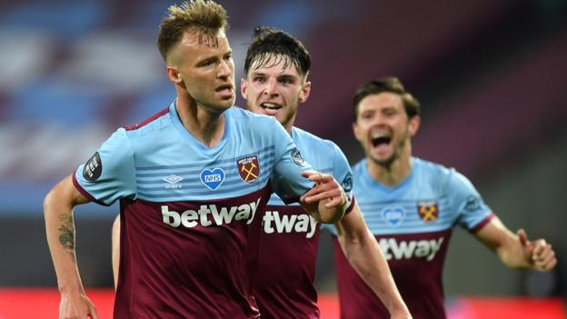 West Ham 3: 2 Chelsea: Yarmolenko trifft den Sieger der Nachspielzeit